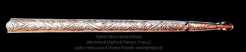 Fodero decorato a sbalzo da Santa Paolina di Filottrano Datazione - IV° sec. a.C. 375 - 350